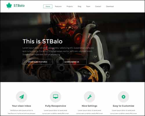 ST Balo Free One Page Business Joomla Templates